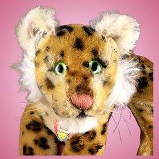 Little Brother Steiff Reclining Leopard Wild Cat ID MAGIC EYES!
