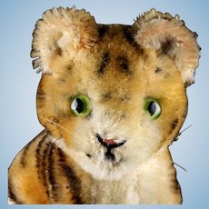 Rare Tiny Steiff Sitting Baby Tiger Wild Cat One Size Only '51 to '61