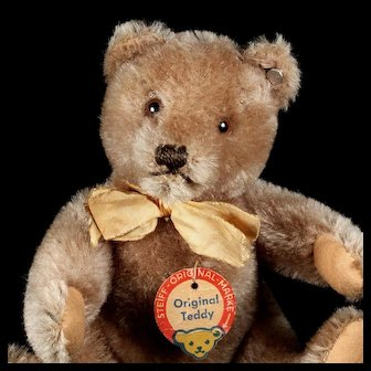 Big Brother Steiff 5xJointed Caramel Original Teddy Bear 2 IDs