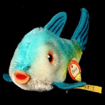 Tiny Steiff Flossy Fish VIBRANT Colors All ID