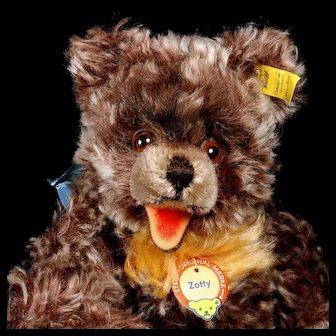 Rare Gorgeous Cinnamon Zimt Color Steiff 5xJointed Zotty Teddy Bear All ID Near Mint
