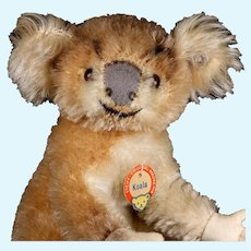 Rare Steiff Baby Koala (NOT) Bear 2 IDs 1955-1961 Only