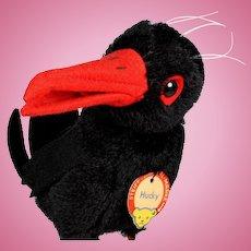 Rare Handsome Big Brother Steiff Hucky Raven Bird All ID