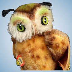 Next to Smallest Sister Steiff Wittie Owl Bird All ID