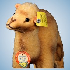 Smallest Size and Earliest Model Steiff Wool Plush Dromedary Camel All ID Near Mint