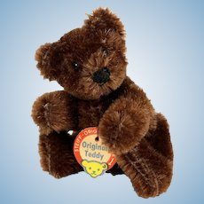 Steiff Tiniest Brother Rare Dark Brown 5xJointed Original Teddy Bear ID