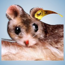 Rare Tiny Shy? Steiff Dormy Dormouse Gorgeous Coloring All ID