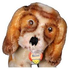 Rare Tiny Gorgeous Airbrushing Steiff Basset Hound Puppy Dog ID