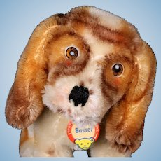 Rare Tiny Gorgeous Airbrushing Steiff Basset Hound Puppy Dog ID