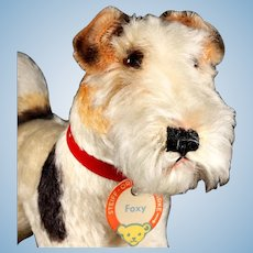 Steiff Middle Brother Rare Foxy Fox Terrier Puppy Dog ID