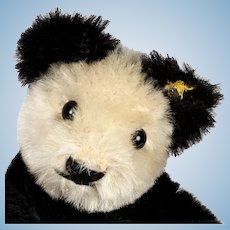 Rare Tiny Bendy Steiff Panda Teddy Bear ID Only for US Market Only From 1968 to 1972