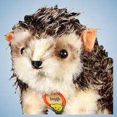 Rare 1960s Steiff Walking Joggi Hedgehog Spiky Hair One Size Only ID