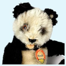 Baby Sister Rare  5xJointed Steiff Panda Teddy Bear 2 IDs