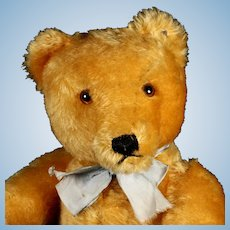 Gorgeous Steiff 35-cm 5xJointed Gold Original Teddy Bear ID He Talks!
