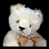 Little (Next to Smallest) Sister Rare WHITE Steiff 5xJointed Original Teddy Bear ID