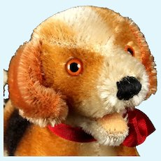 Rare Steiff Open-Mouthed Beagle Puppy Dog FAO Schwarz USA Exclusive 1965 and 1966 Only
