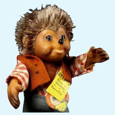 Tiny Brother Macki Steiff Dressed Hedgehog Doll Mecki's Son and Mucki's Brother All ID Near Mint