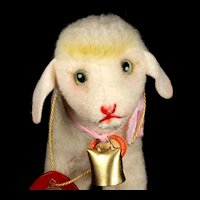 Incredibly Sweet Little Sister Steiff Wool Plush Lamby Lamb ID and FAO Schwarz Tag for Easter or Any Time