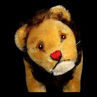 Rare 1950s Steiff Sweet Smaller Size 5xJointed Papa Lion Loewen-Papa Wild Cat ID