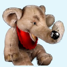 Rare Adorable (not so) Little Brother Steiff 3xJointed Jumbo Elephant 1+ IDs