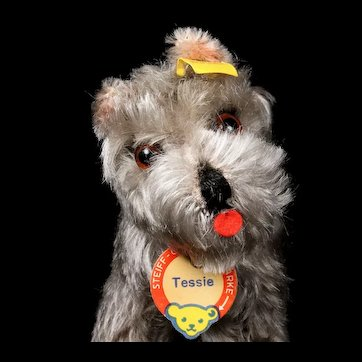 Little Sister Steiff Tessie Schnauzer Puppy Dog All ID Incredible Coloring