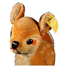 Steiff Larger Bambi Baby Deer Fawn 2 IDs Copyright Walt Disney