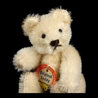 Rare Gorgeous BRILLIANT WHITE Tiny Brother Steiff 5xJointed Original Teddy Bear ID