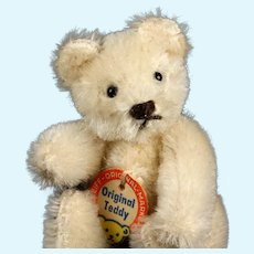 Rare Gorgeous BRILLIANT WHITE Tiny Brother Steiff 5xJointed Original Teddy Bear ID