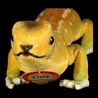 RARE Baby Brother Steiff Velveteen and Felt Lizzy Lizard Eidechse Three Years Only 2 IDs!