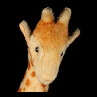 Middle Size Rare Early Post WWII Steiff Wool Plush Baby Giraffe 1951-1953 ONLY