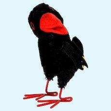 Rare Large Brother Spooky Steiff Hucky Raven Rabe Bird 2 IDs