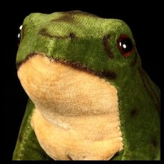 Little Brother Steiff Velveteen Seated Froggy Frog ID
