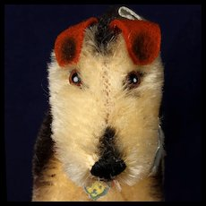 Little Brother Steiff Terry Airedale Terrier Puppy Dog ID Not Made after 1961
