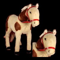 Rare Largest Brother Steiff Paint Horse Pferd ID 1953-1959 ONLY