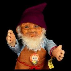 Rare Steiff Early Rubber Head Old Man Gucki Dwarf Doll All ID