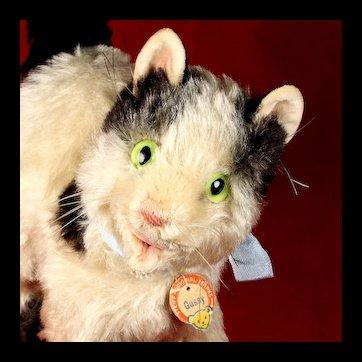 Big Sister Steiff Adorable Rare Gussy Cat Kitten ID