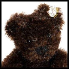 Rare DAAAARK Brown Tiny Steiff 5xJointed Original Teddy Bear ID