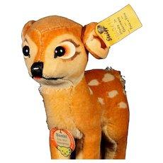 Little Brother Steiff Bambi Deer Copyright Walt Disney All ID Near Mint
