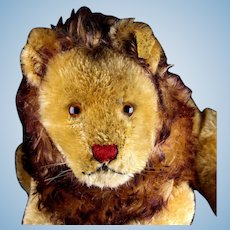 RARE Early Post WWII Steiff Sweet 5xJointed Papa Lion Wild Cat All ID Plus US-Zone Flag