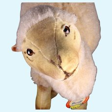 Rare Largest Sister Steiff Wool Plush Dromedary Camel 2 IDs Not Made After 1962