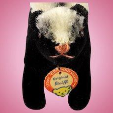 Rare Tiny Steiff BLACK Velveteen Skunk Stinktier ID
