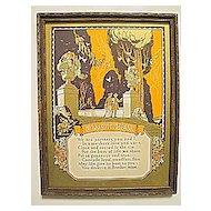 Vintage Brother Motto Rare and Masculine  Buckbee-Brehm Motto Print Circa 1920's