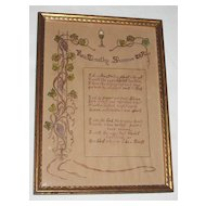 Vintage Religious Priest Motto Blessing To Be A Priest  All Hand-Done   Artist  Rev. Timothy Shannon, T.O.R.