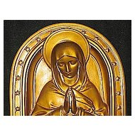 Plaster Plaque of Mary & Baby Jesus  Artist  L. Connelly  The Sisters of St. Francis Pittsburgh, PA Circa 1920's