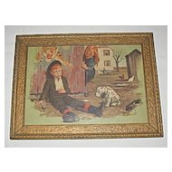 Vintage Smoking Pipe Tobacco, Adorable Humorous  Print