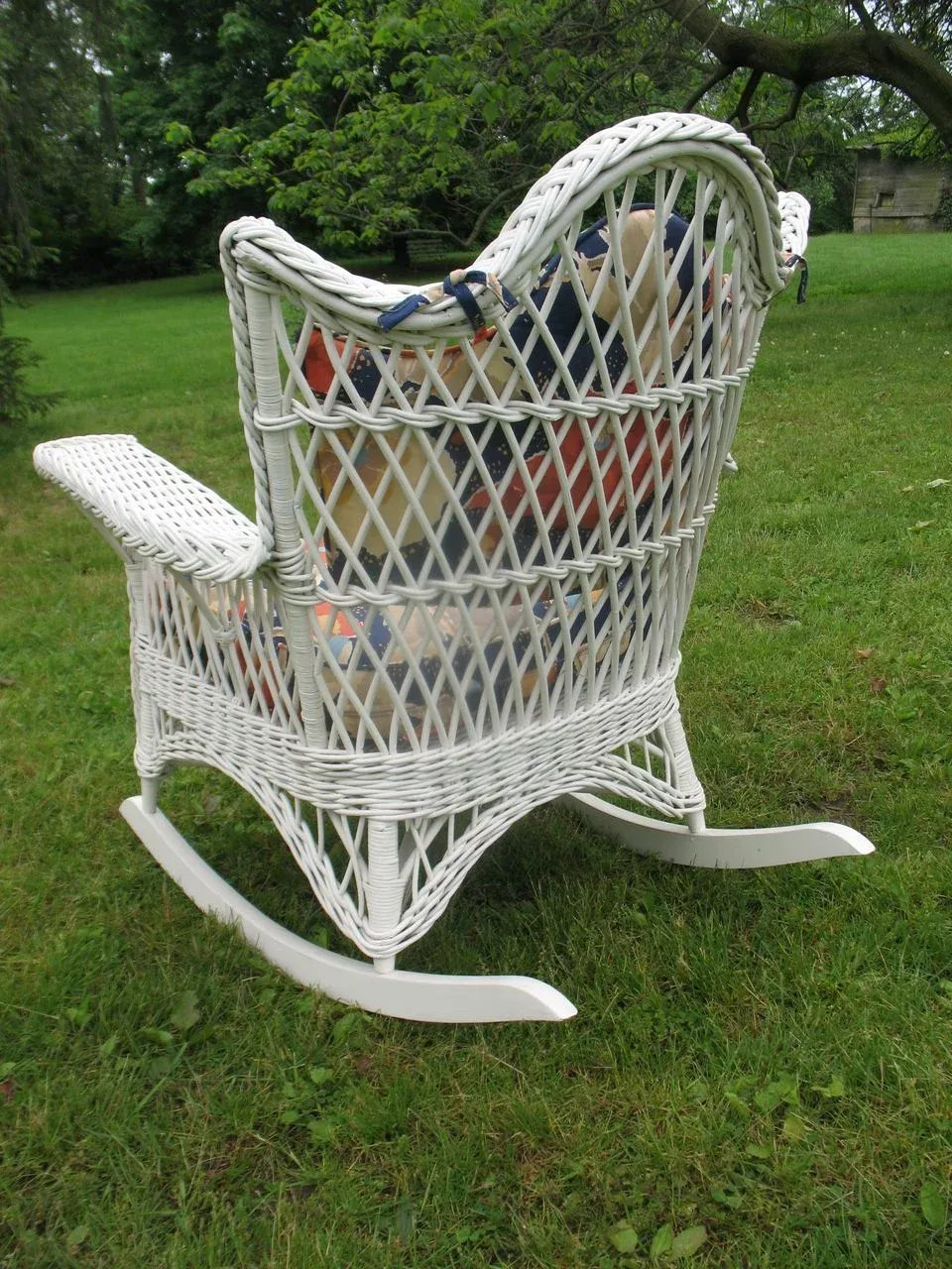 Vintage 3 Piece Bar Harbor Wicker Parlor Set Circa 1920 S