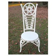 Antique Victorian Wicker Reception  Chair