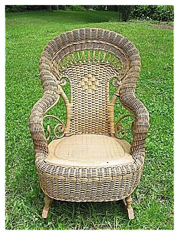 child s natural antique victorian wicker rocker heywood brothers and