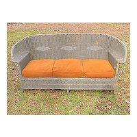 Vintage Art Deco Wicker Sofa Circa 1920's