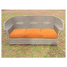 Antique Wicker Sofa Circa 1920 Art Deco